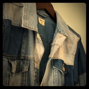 Vintage 1969 Gap color-blocked denim jacket